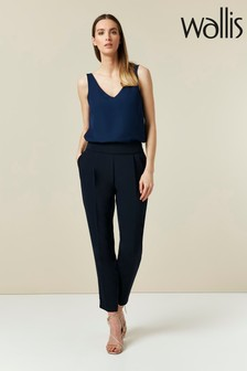 Wallis Navy Pull-On Trousers
