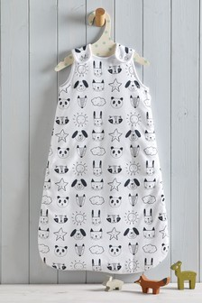 Monochrome Animals 2.5 Tog Sleep Bag