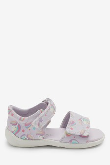 Lilac Unicorn Sandals (Younger)