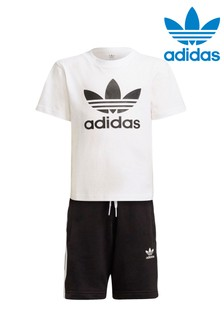 adidas Originals Little Kids Trefoil Shorts And T-Shirt Set