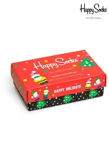 Happy Socks Kids Holiday Three Pack Gift Box