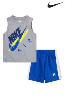 Nike Infant AIR White Vest And Shorts Set