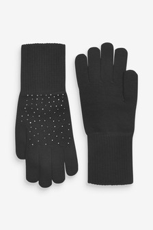 Black Sparkle Gloves
