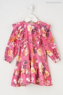 Angel & Rocket Pink Floral Tiered Dress