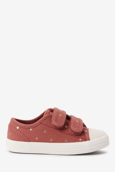 Rust Star Standard Fit (F) Canvas Bumper Toe Trainers (Younger)