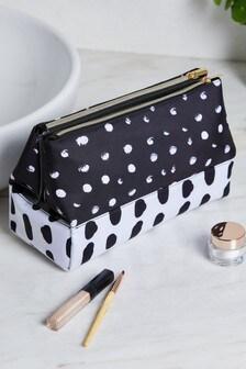 Monochrome Folded Cosmetics Bag