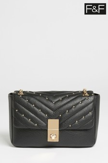 F&F Black Studded Bag