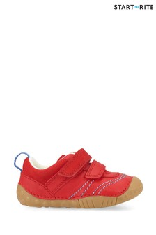 Start-Rite Baby Leo Red Leather Prewalker Shoes