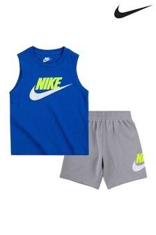Nike Little Kids Navy Futura Vest And Shorts Set