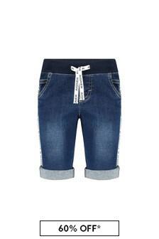 Aigner Baby Boys Blue Cotton Shorts