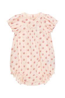 Bonpoint Baby Girls Cream Cotton Romper