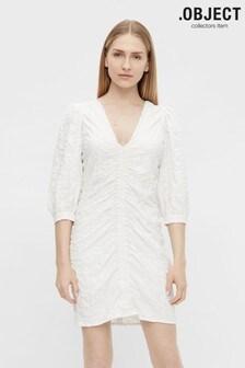 OBJECT Sustainable Rouched Gerda Mini Dress