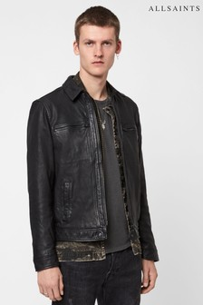 AllSaints Black Lark Leather Jacket