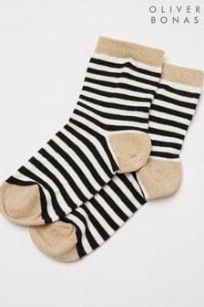 Oliver Bonas Black Socks
