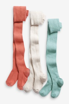 Oatmeal/Sage/Ginger 3 Pack Cable Tights