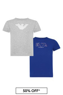 Emporio Armani Baby Boys Blue T-Shirt Pack