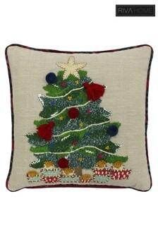 Artisan Christmas Tree Cushion by Riva Home