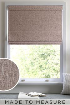Mink Chenille Made to Measure Roman Blind