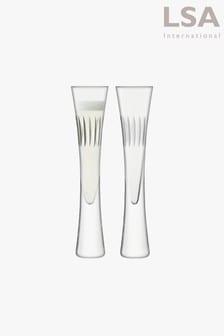 Set of 2 LSA International Moya Cut Champagne Flutes