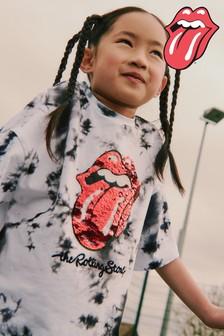 Monochrome License Tie Dye Sequin Rolling Stones T-Shirt (3-16yrs)