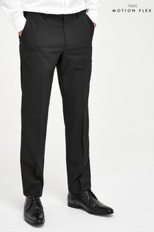 Black Regular Fit Trousers with Motion Flex Waistband