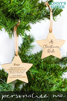 Personalised First Christmas Bauble Gift by Jonnys Sister