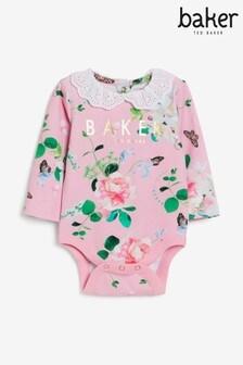 Baker by Ted Baker Pink Floral Bodysuit