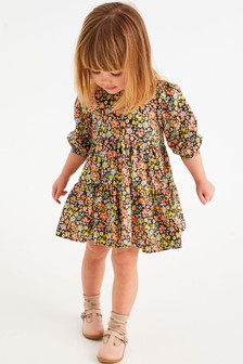 Multi Ditsy Cotton Tiered Dress (3mths-7yrs)