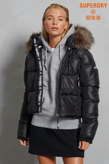 Superdry Sport Padded Borg Crop Jacket