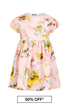 Molo Baby Girls Pink Cotton Dress