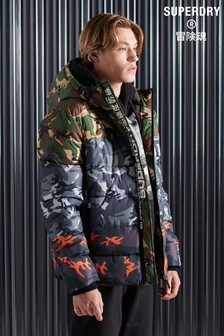 Superdry Camo Mix Sports Padded Jacket