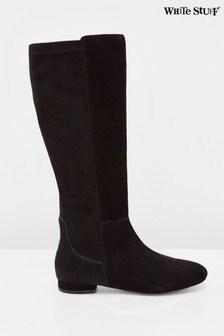 White Stuff Black Sofia Strech Long Boots