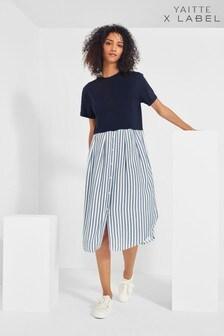 Mix/Yaitte Stripe T-Shirt Dress