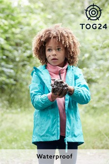 Tog24 Blue Craven Kids Packaway Waterproof Jacket