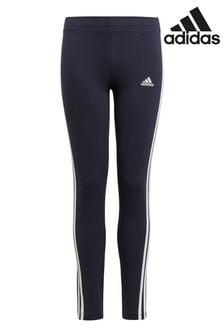 adidas Navy 3 Stripe Leggings