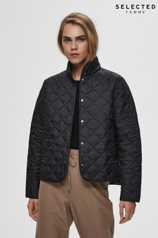 Selected Femme Black Quilted Jacket