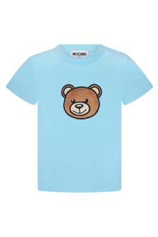 Moschino Kids Baby Boys Blue Cotton T-Shirt