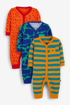 Bright Abstract 3 Pack Footless Sleepsuits (0mths-3yrs)