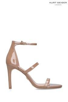 Kurt Geiger London Camel Park Lane Patent Heels Shoes