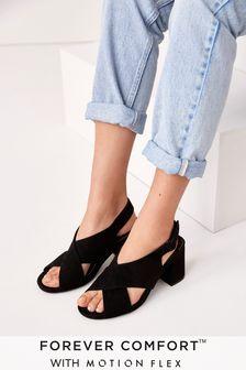 Black Motion Flex Cross Over Sandals