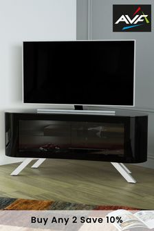 Black AVF Bay 1150 Curved TV Stand