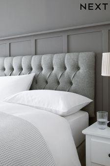Wool Blend Grey Parisian Headboard