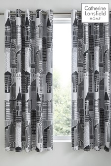 Catherine Lansfield Citylife Eyelet Curtains