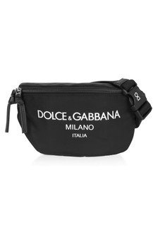 Dolce & Gabbana Kids Black Cotton Belt Bag