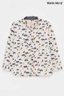 White Stuff Black Kids Bear With Me Printed Shirt