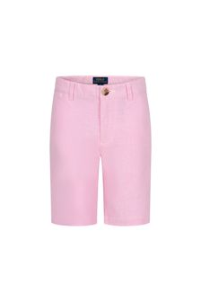 Boys Pink Cotton Shorts
