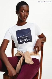 Tommy Hilfiger White Alissa Box Graphic T-Shirt