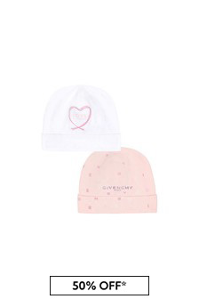 Givenchy Kids Baby Girls Pink Reversible Cotton Hat