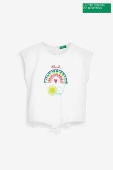 Benetton Tie Front Graphic T-Shirt
