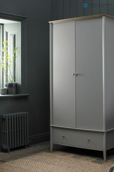 Whitby Scandi Oak Grey Double Wardrobe by Bentley Designs